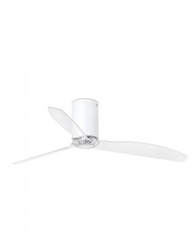 MINI TUBE FAN Matt white/transparent ceiling fan with DC motor - 32039UL