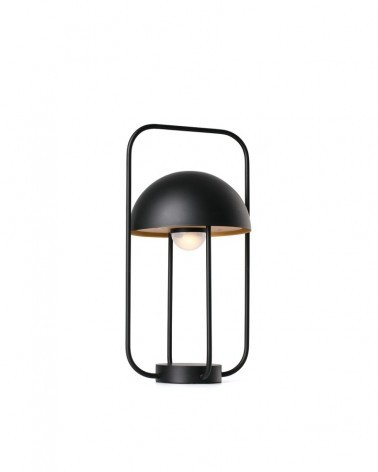JELLYFISH Black and gold portable lamp - 24523