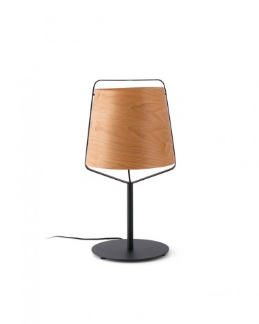 STOOD Black and wood table lamp - 29846